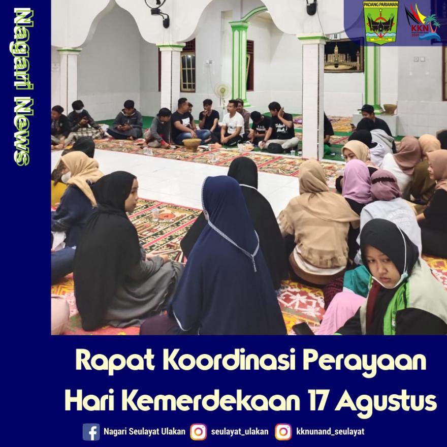 Rapat Koordinasi Perayaan Hari Kemerdekaan 17 Agustus