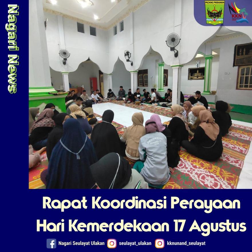 Rapat Koordinasi Perayaan Hari Kemerdekaan 17 Agustus 2021